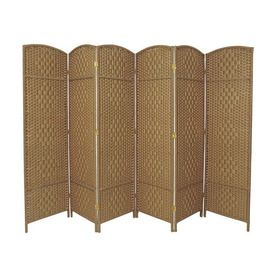 indoor privacy screen living room furniture images of modern farmhouse rooms oriental dividers 6 panel natural folding
