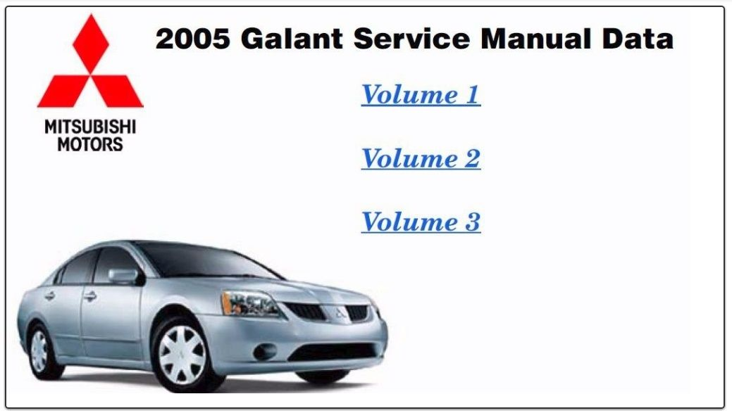 mitsubishi galant 2005 repair service manual pdf | mitsubishi repair