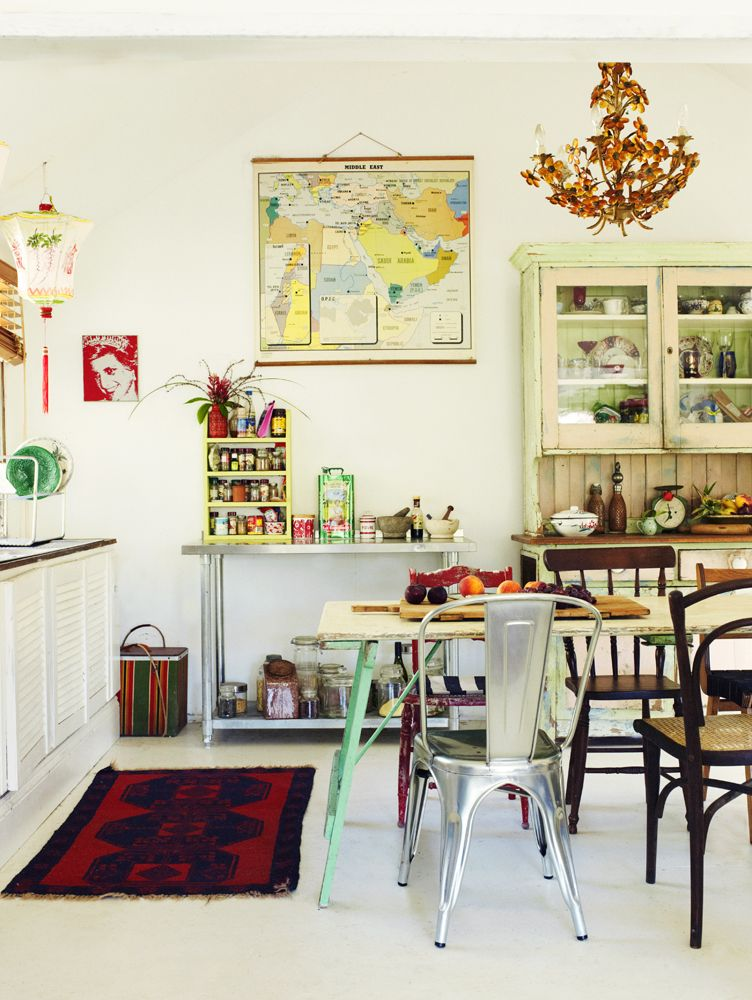 Colorful kitchen awse pinterest cocinas hogar y muebles for Muebles hippies