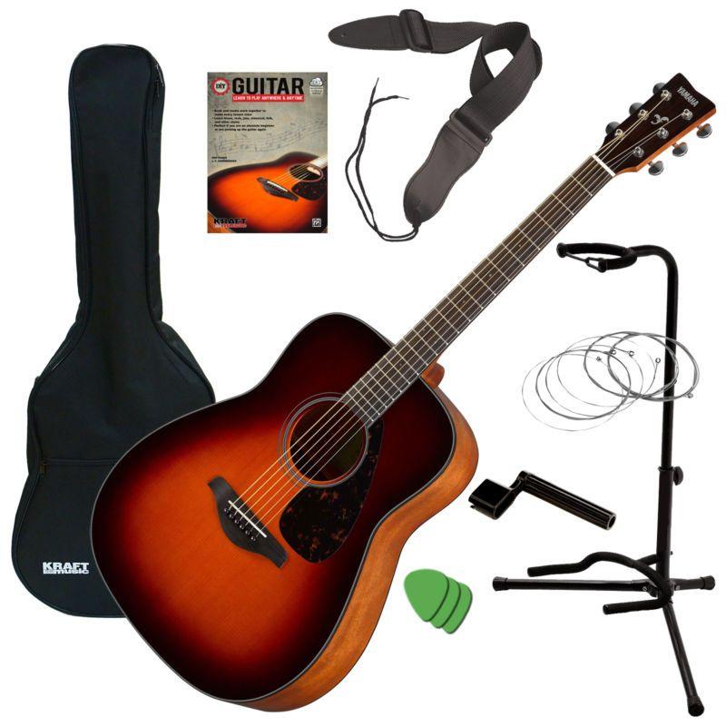 Yamaha Fg800 Acoustic Guitar Brown Sunburst Guitar Essentials Bundle Guitar Yamaha Fg800 Acoustic Guitar