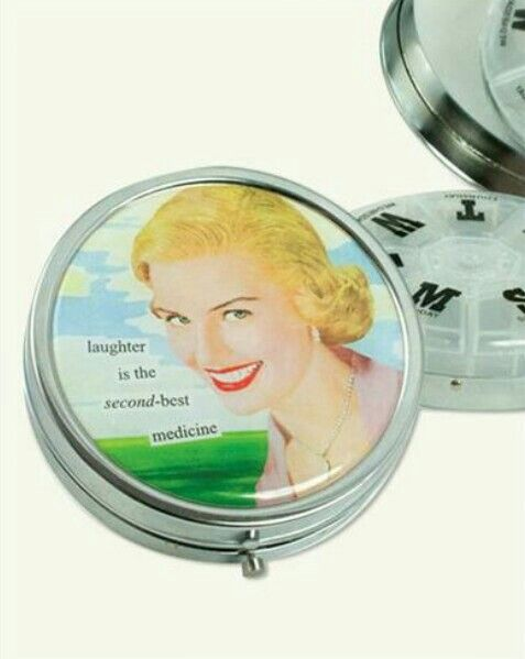 199ba5e65a20d Laughter Is The Second-best Medicine Pill Box from Victorian Trading Co.