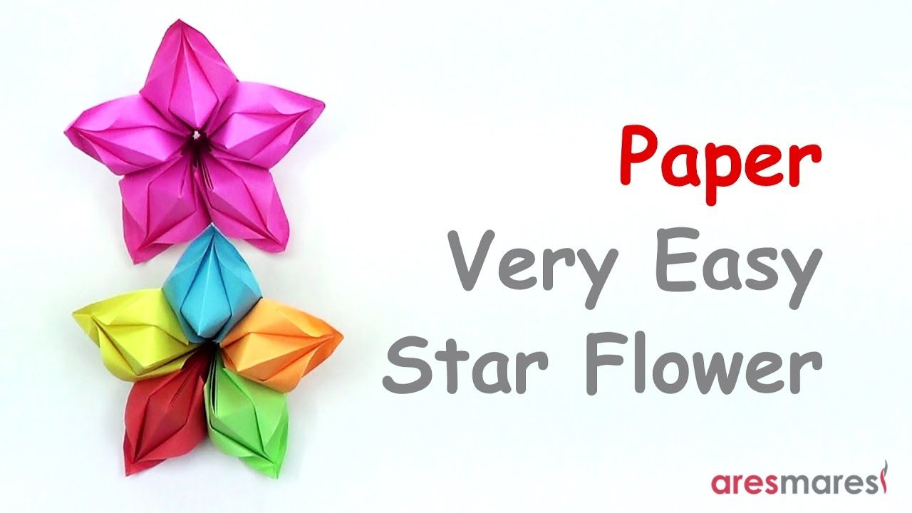 Paper Very Easy Star Flower Easy Modular Youtube Projects To
