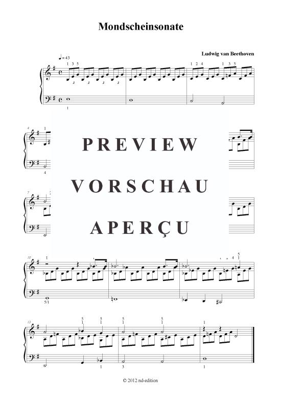 mondscheinsonate klaviernoten