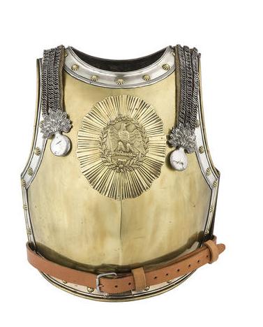 A Very Rare French Carabinier Officer's Cuirass   Circa 1815-25