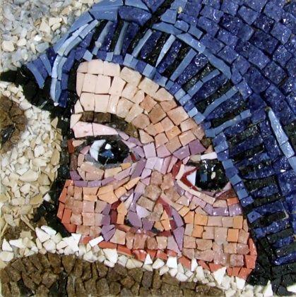 Michael Kruzich - Matthiew. Mosaic baby portrait