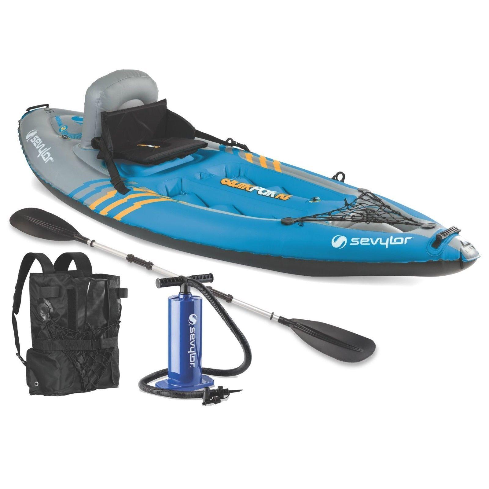 Awe Inspiring 1 Person Kayak 8X7X3 Paddle Hand Pump Included Easy Setup Beutiful Home Inspiration Xortanetmahrainfo