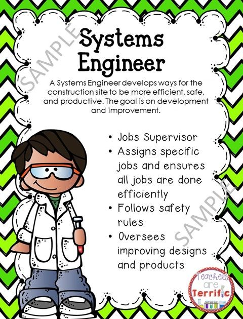 Stem And Science Job Badges And Posters In Primary Colors  Stem
