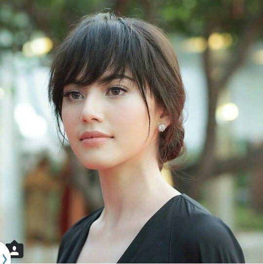 Bangs Hairstyle Mai Davika Thai Actress Hairstyles With Bangs Hair Styles Long Hair Styles