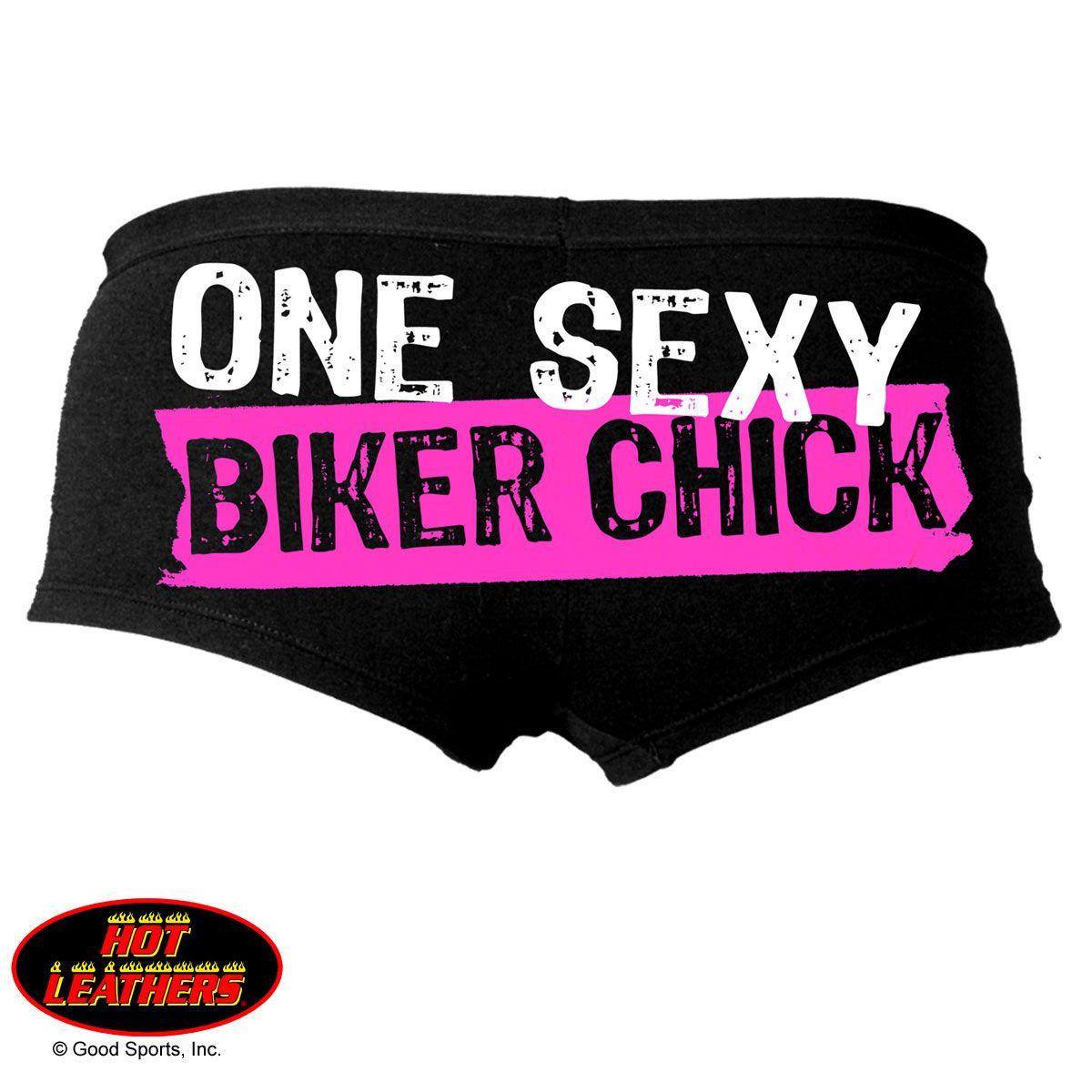 One sexy biker chick