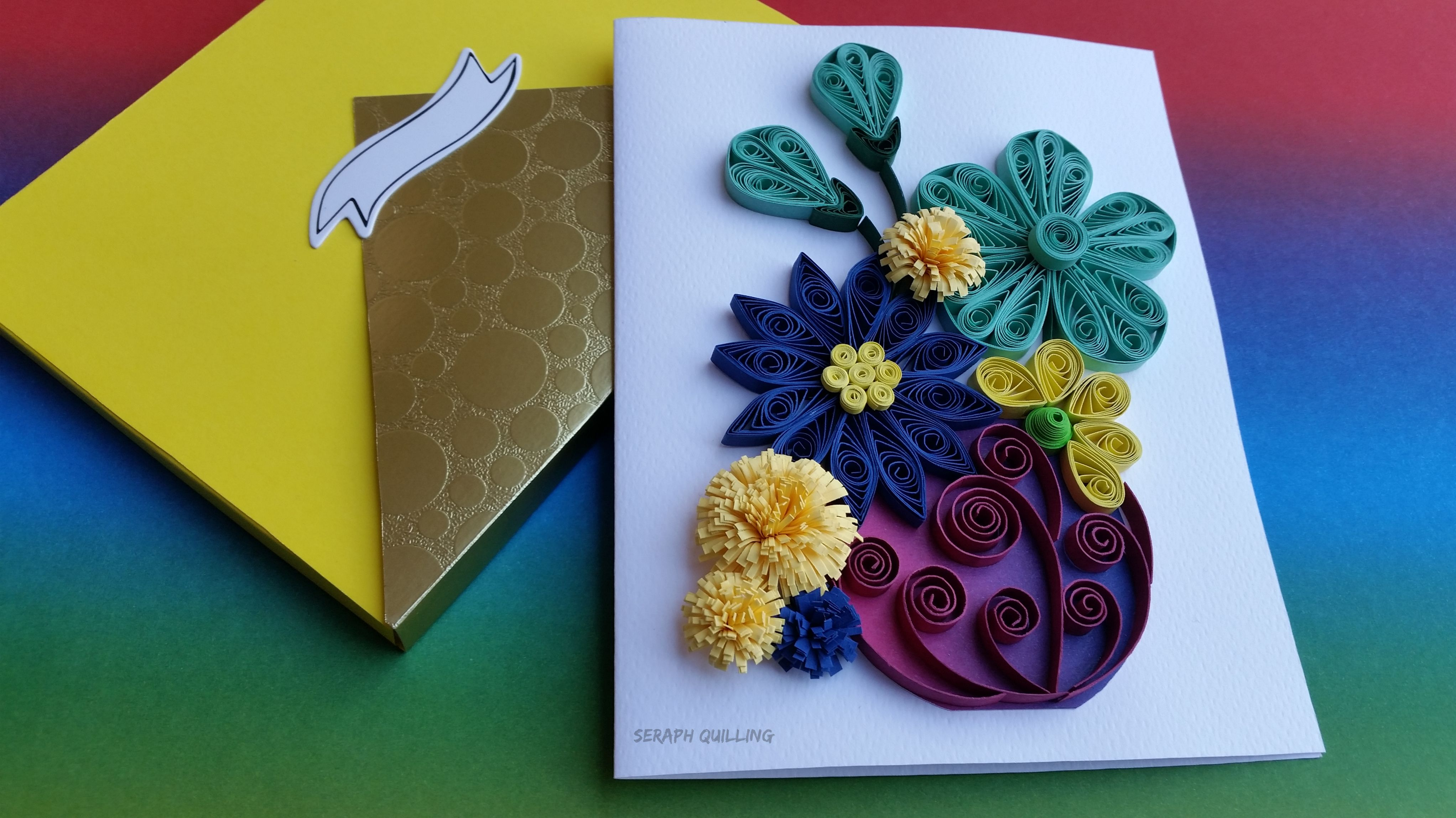 Quilling Flower Card Happy Easter Card Mother S Day Gift Idea