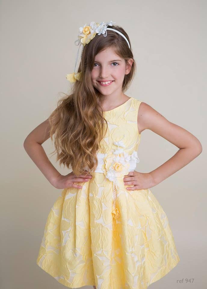 b26e43dea4b vestido  ceremonia  amarillo  brocado