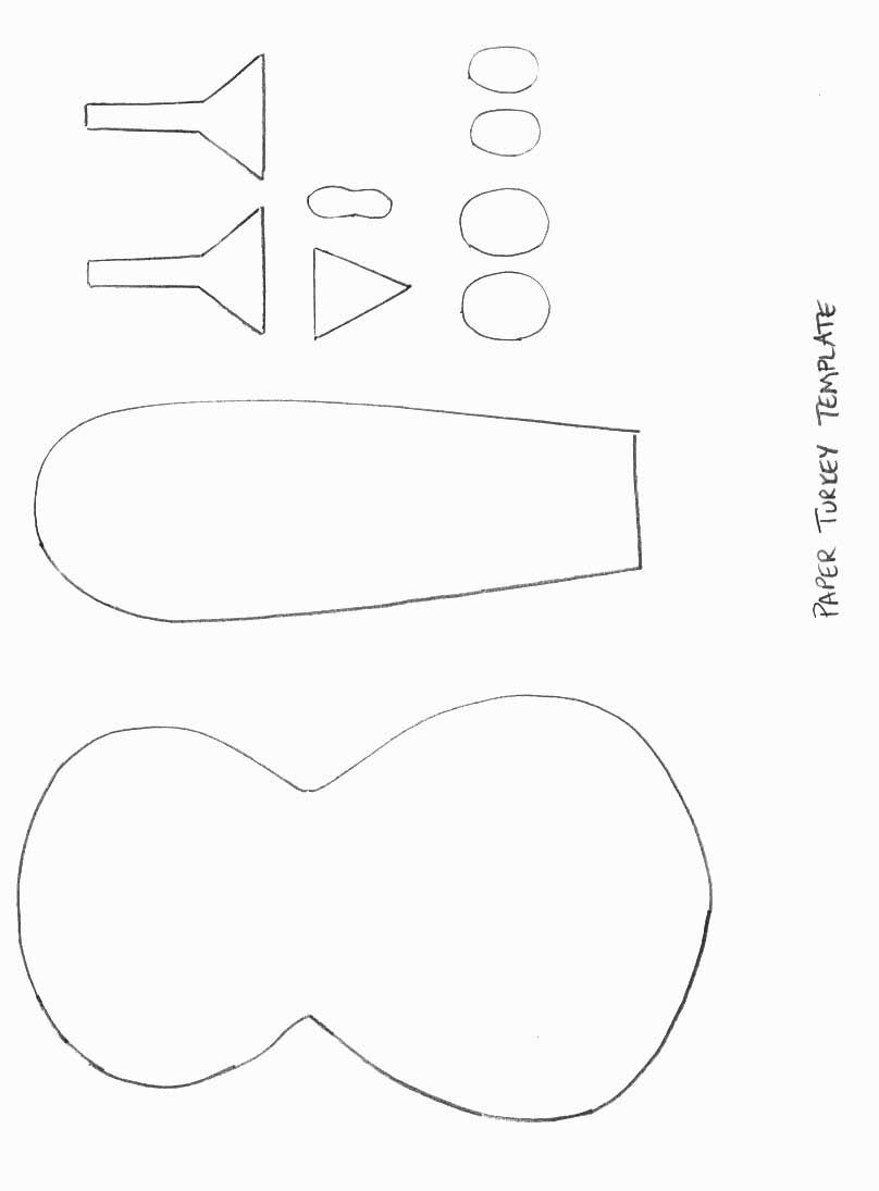 Thanksgiving Crafts - Print your Paper Turkey Template at ...