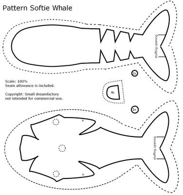 pattern softie whale | Manualidades e Ideas | Pinterest | Wal ...