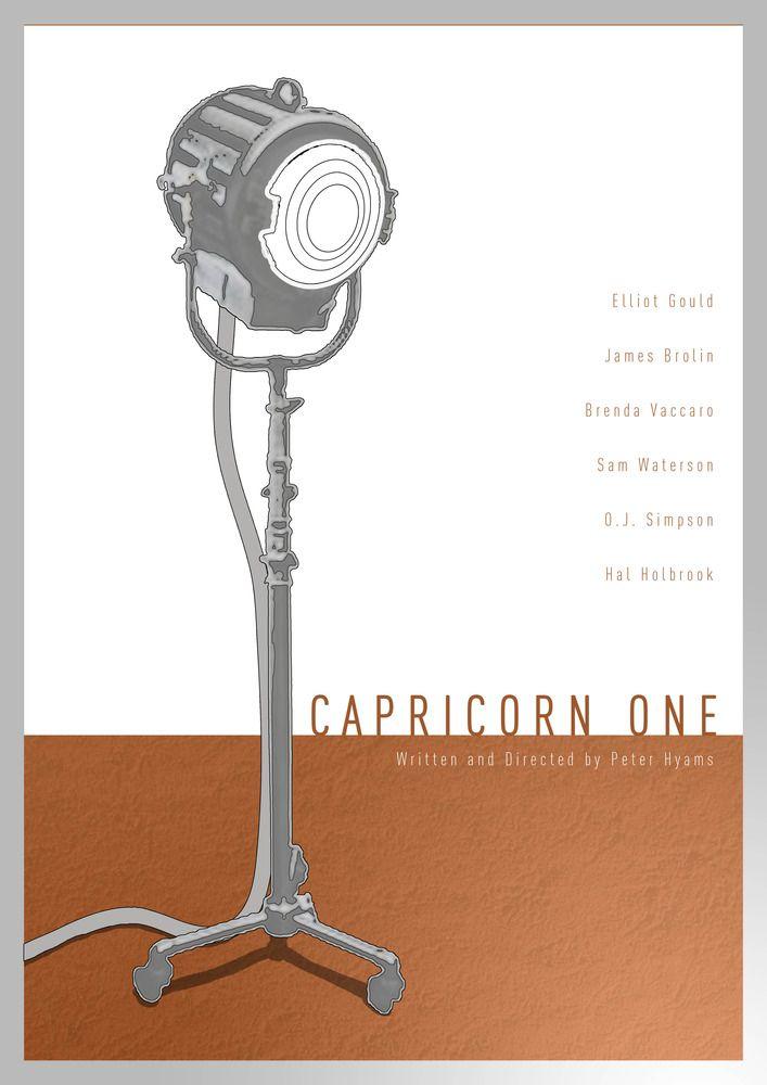Capricorn One (1977) - Minimal Movie Poster by Daniel Keane #minimalposters #fanart #minimalmovieposters #70smovies #alternativemovieposters #danielkeane #capricornone