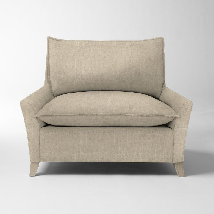 Bliss Down-Filled Chair-and-a-Half - Solids #westelm