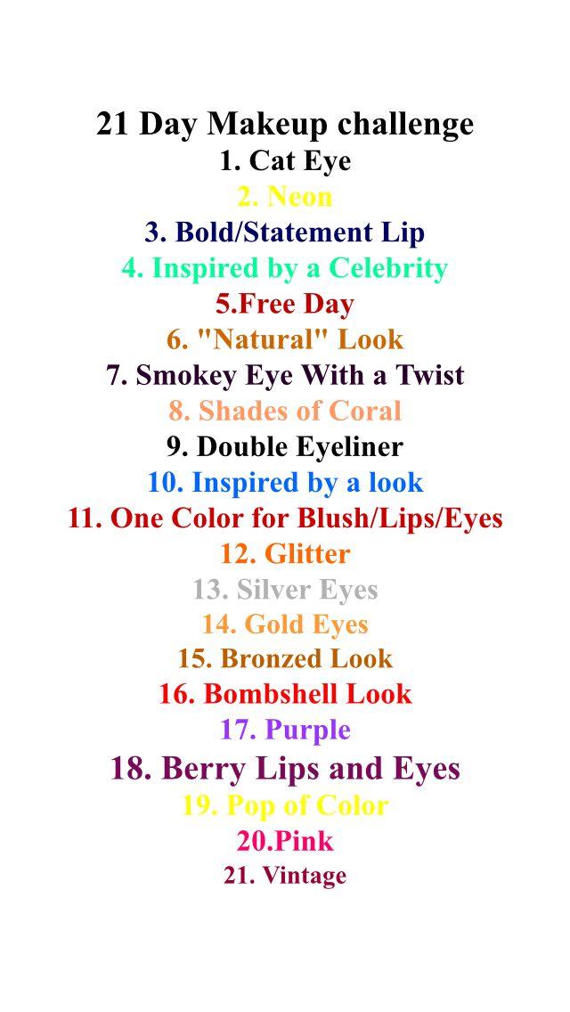 21 Day Makeup Challenge Makeup Challenges Day Makeup Double Eyeliner