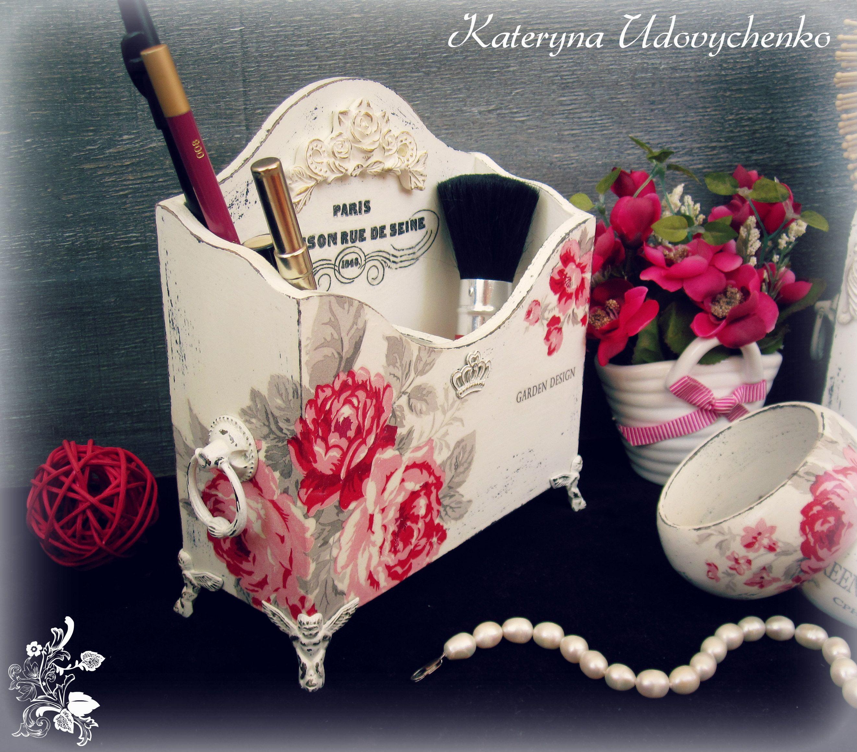 "Shebby-chic set ""Shebby for a Princess"". Decoupage. Handmade."