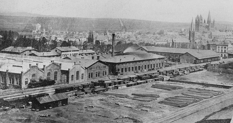 So Sah Der Limburger Bahnhof Vor Seiner Erweiterung Im Jahre 1880