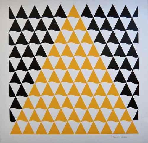 Ramon Cáceres - Serigrafia - Pirâmide Concretista - Linda! - R$ 550,00