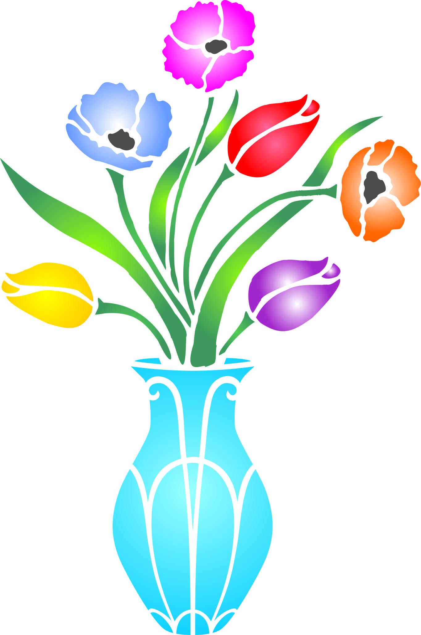 Flower bouquet vase stencil httpamazondpb01hjvhnk2m flower bouquet vase stencil httpamazondp amipublicfo Images