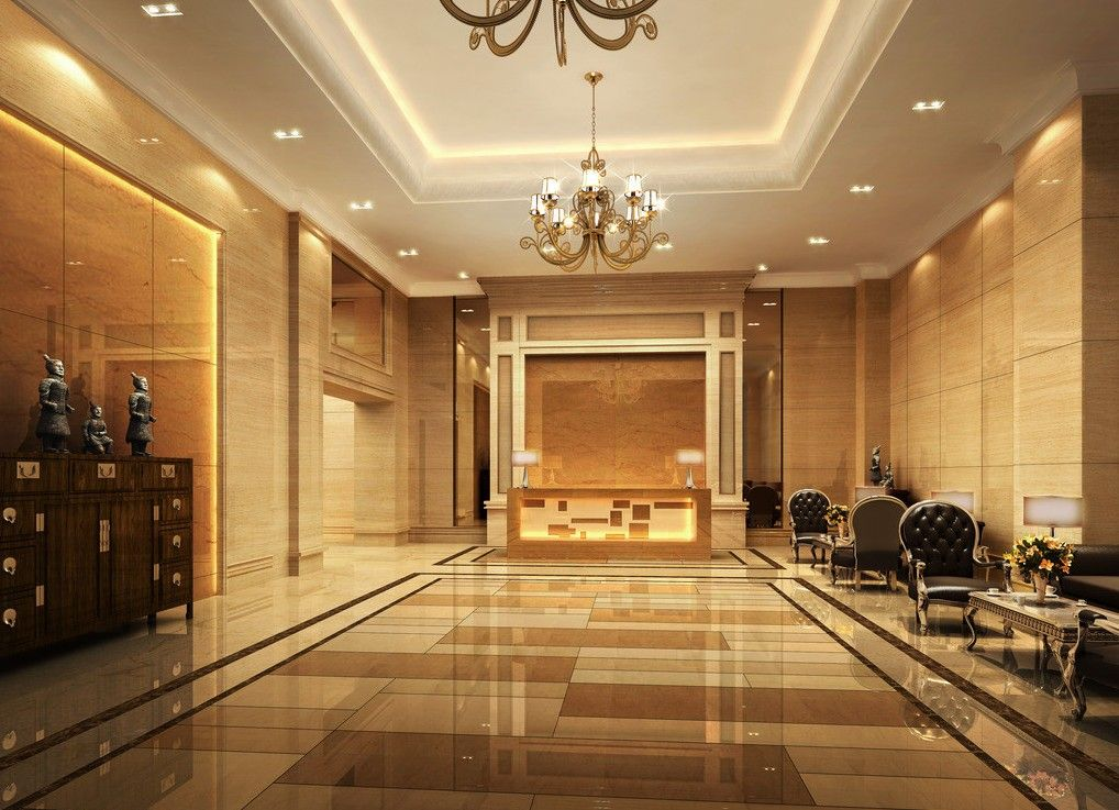Interior sleek foyer interior design feats glossy flooring also chandelier mixed with arm chairs some attractive foyer interior designs