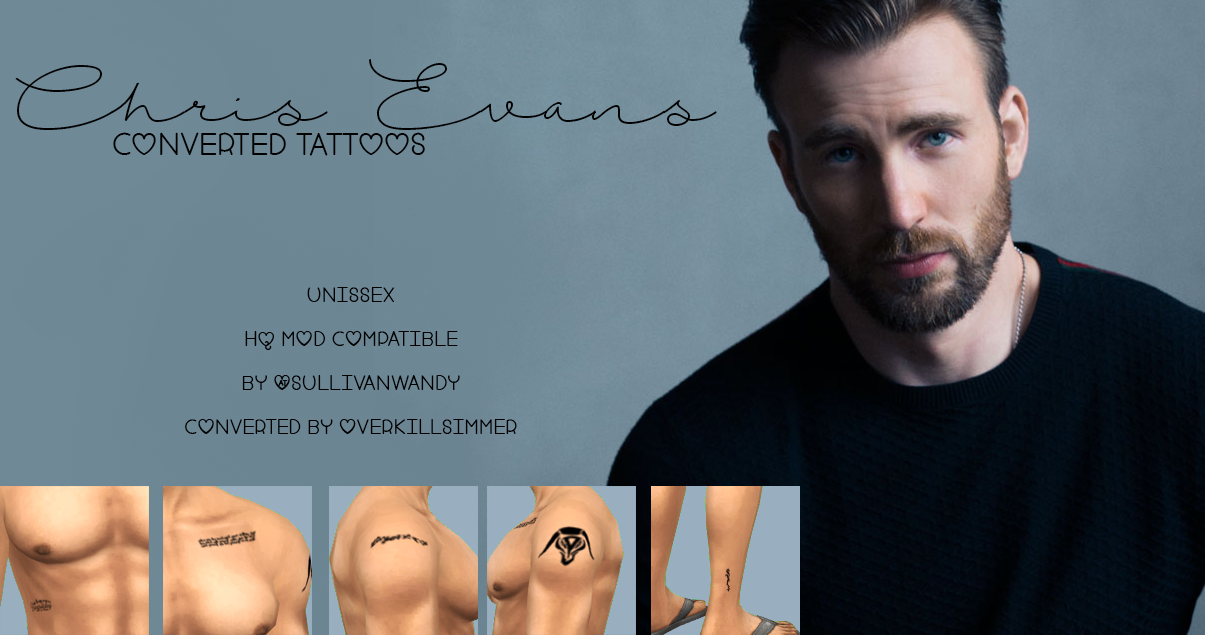 Chris Evans Tattoos Chris evans tattoos, Chris evans