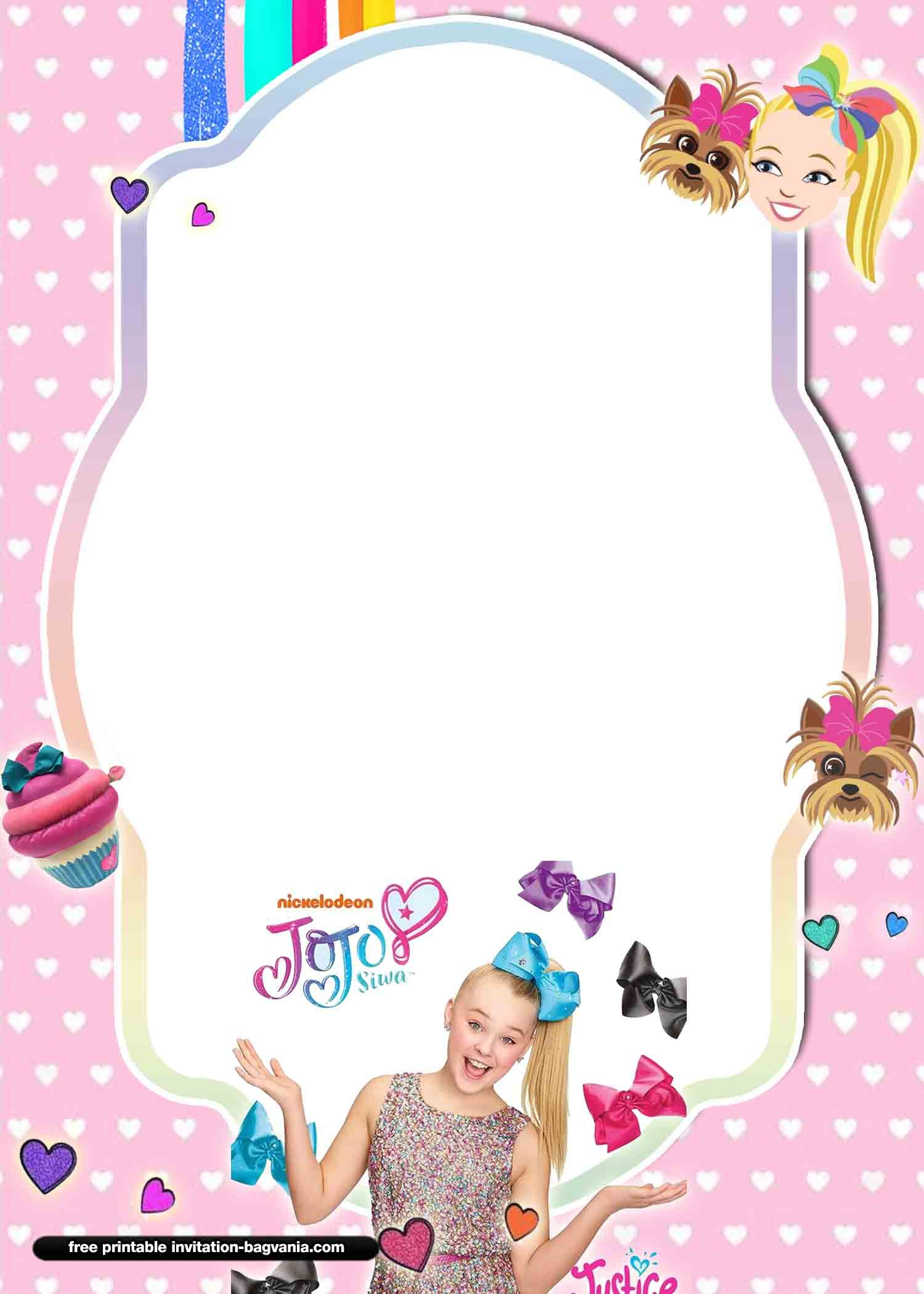 13 free jojo siwa invitation templates