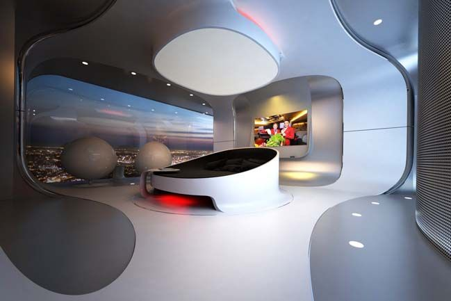 Merveilleux Futuristic Bedroom Design For Luxury Penthouse