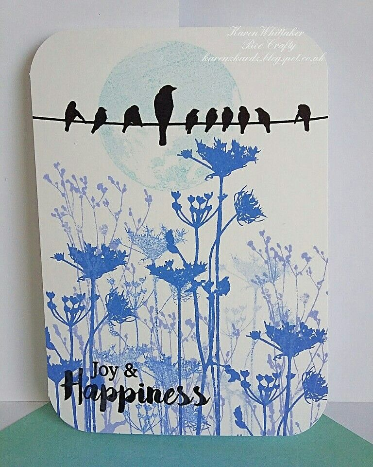 Wildflowers and Birds On A Wire stamps by Bee Crafty ...