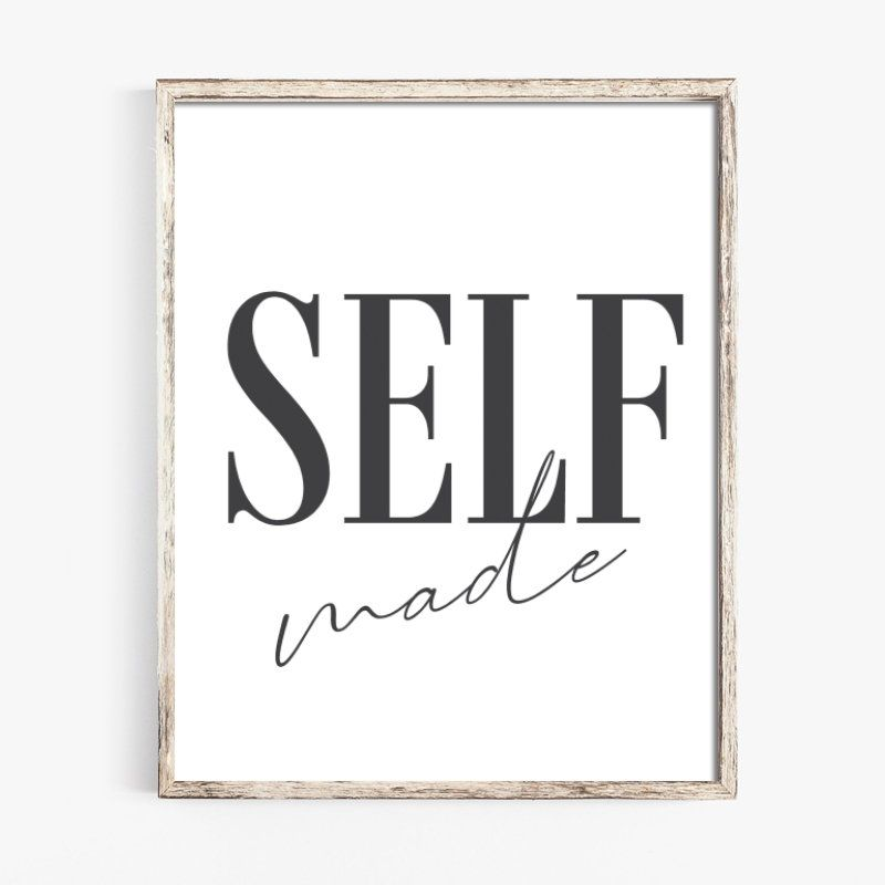 Self made office cubicle desk poster working woman poster boss   Etsy