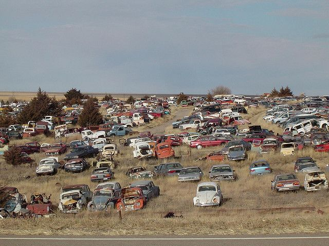 Colby Kansas Abandoned Cars Junkyard Salvage Cars