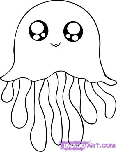 Cute Jellyfish Cartoon Drawing Google Search Drawing Easy