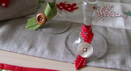 Nice idea for party glasses.  My 'glass' is all the ones with a red ribbon ;)