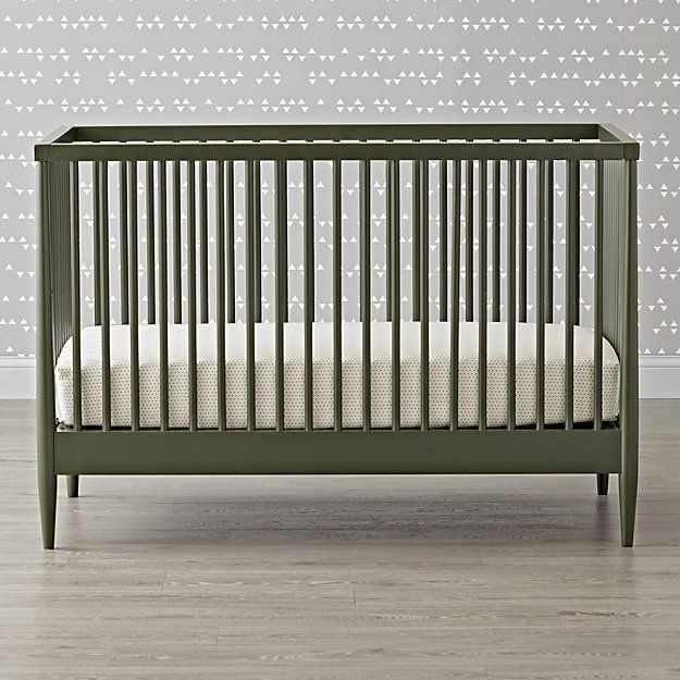 Hampshire Olive Green Crib Reviews Crate And Barrel