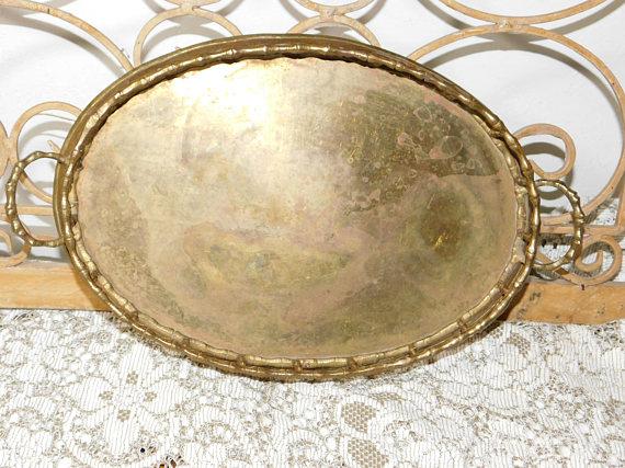 Brass Vanity Gold Mirror, Dresser Mirror, Mirror Tray ...
