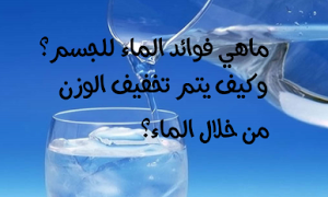 ماهي أهمية وفوائد الماء للجسم وكيف يتم تخفيف الوزن من خلال الماء