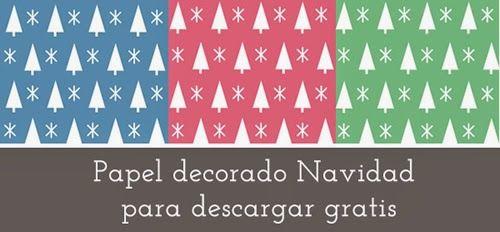 Papel de Navidad para imprimir gratis | Papel de navidad, Papel y ...