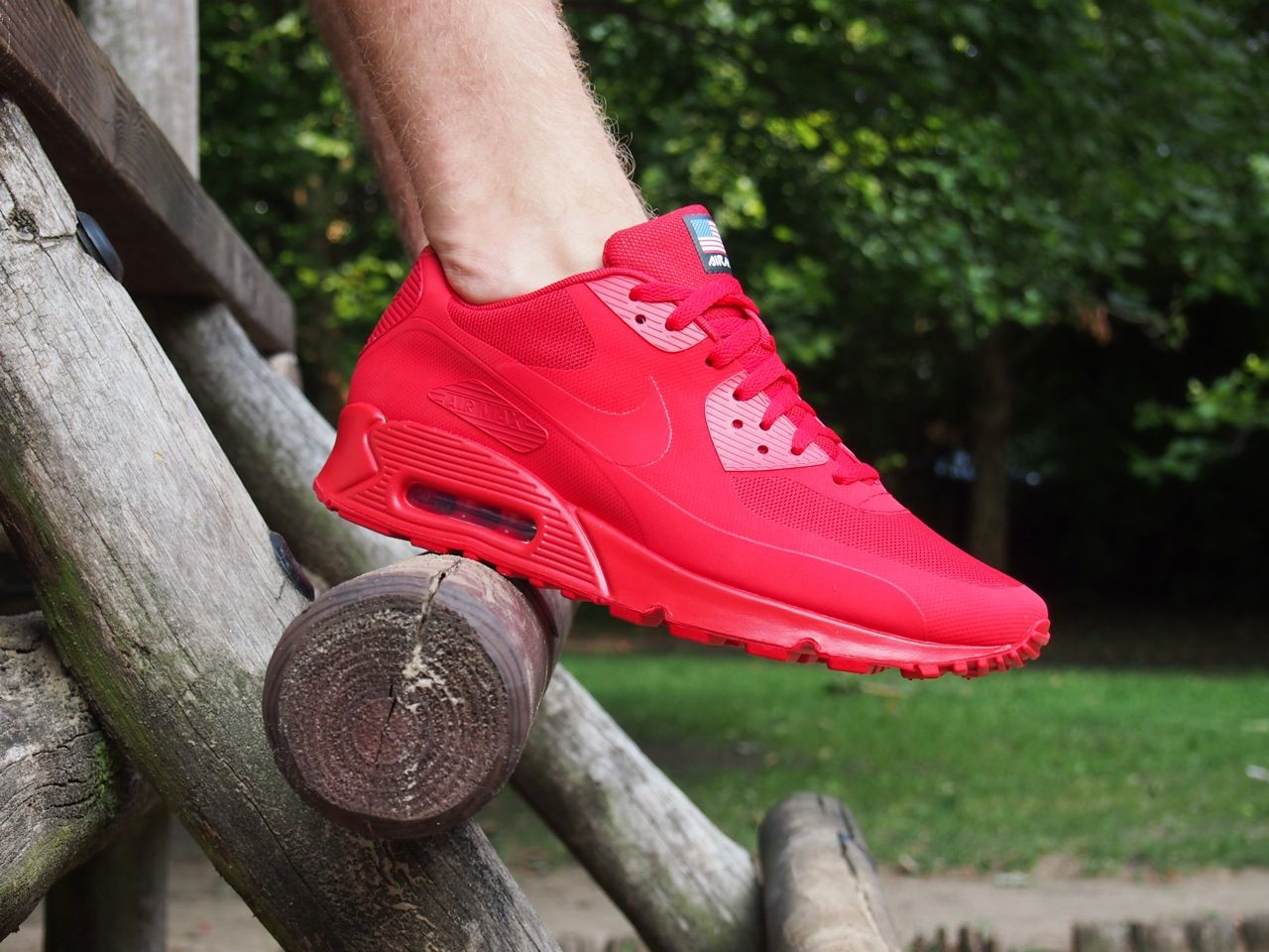air max rojas enteras
