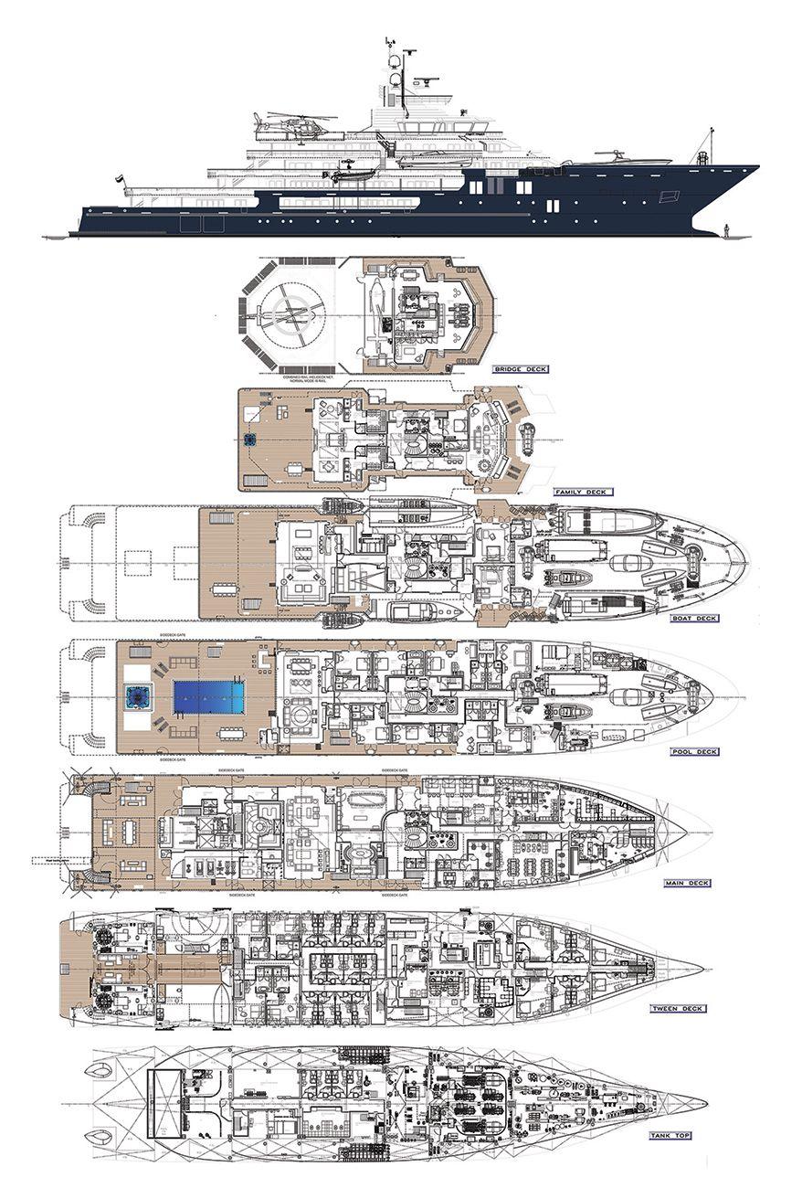 ULYSSES - All deck plans  Fraser Yachts | Yacht Design