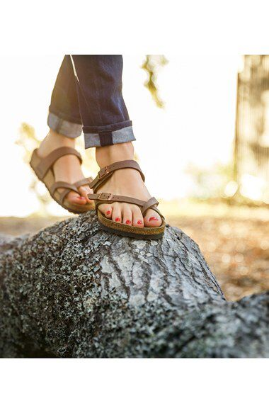 Birkenstock mayari birko flor mocca sandals!! Worn Depop