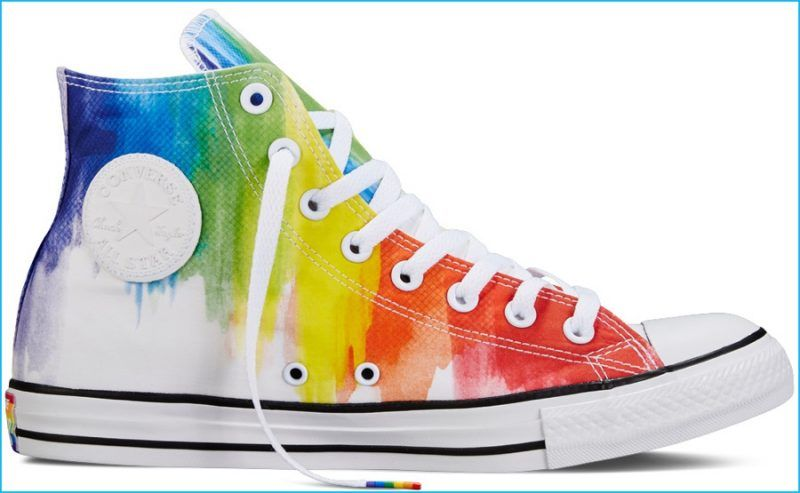 Converse Celebrates Pride with Rainbow Hued Collection. Rainbow  SneakersRainbow DressesConverse Chuck TaylorChuck TaylorsAll Star PrideRainbowsShoesRainbow