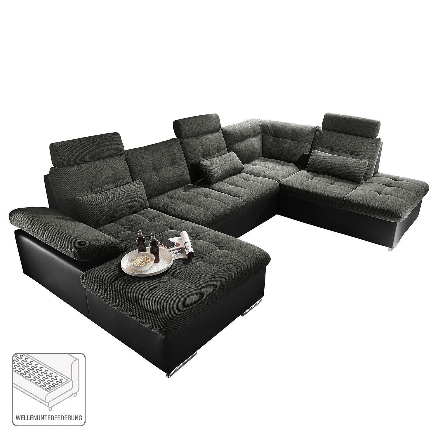 Residential Landscape Puntiro Corner Sofa Bed Couch U Shaped Sofa
