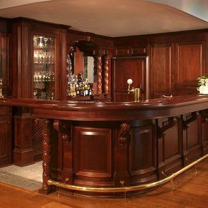 Superieur Basement Idea Photo Wooden Bar | Ideas For Custom Wood Wet Bar Designs For  Your