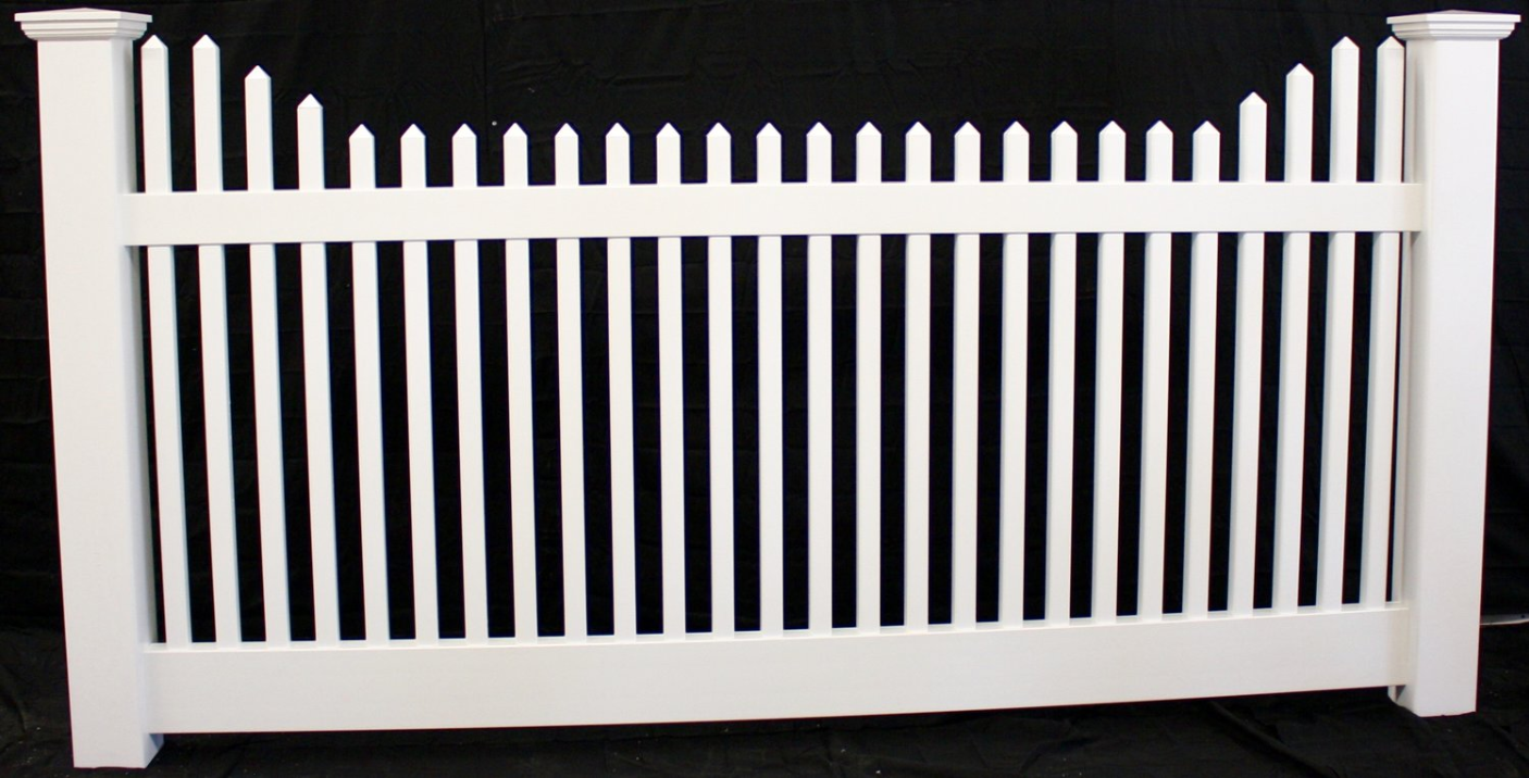 Direct Fence Victorian Stepped Picket Vinyl Fence Panel Vinyl Fence Panels Vinyl Picket Fence Vinyl Fence