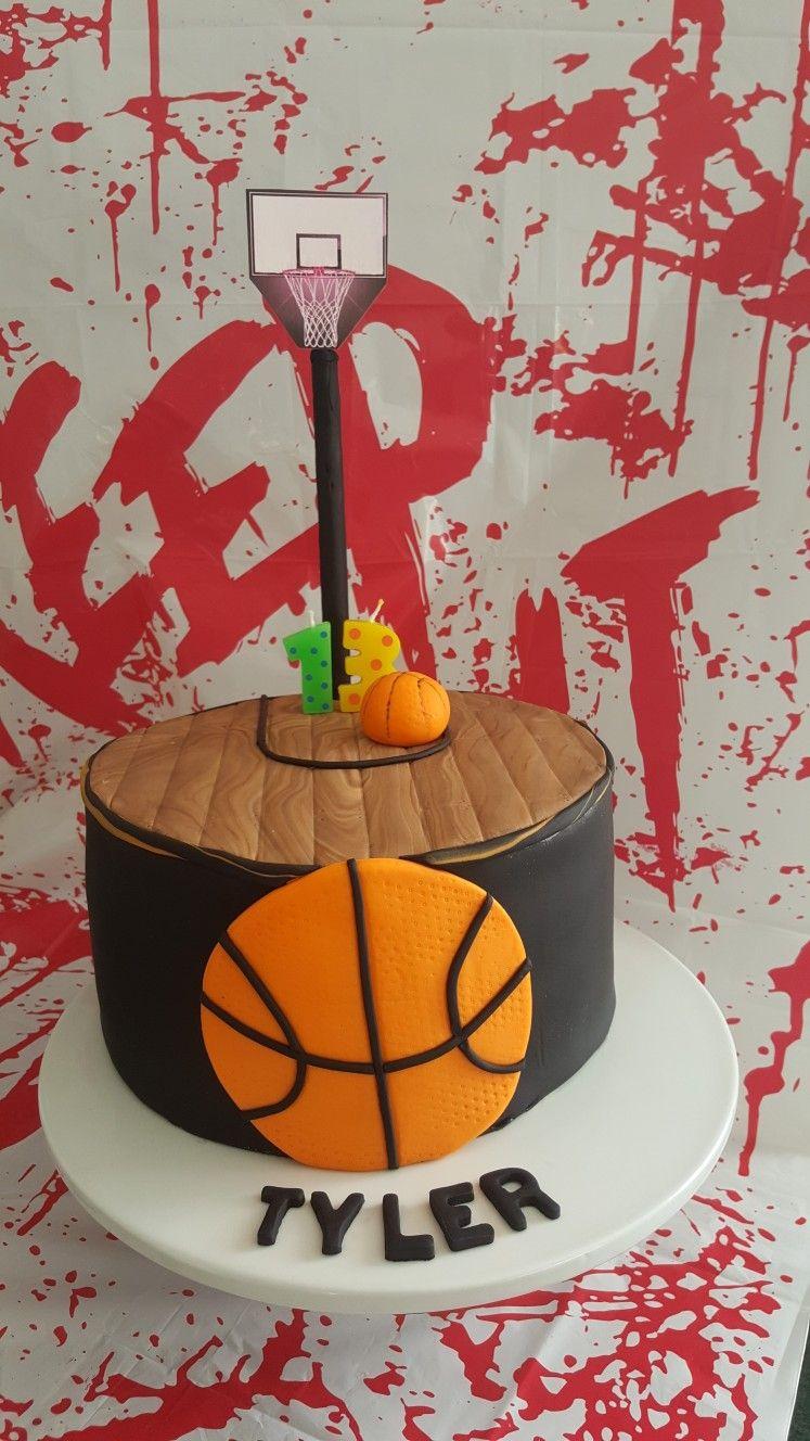 13th birthday boys basketball themed cake 13th birthday