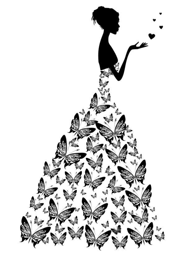 free bride with wedding dress vector illustration illustrations rh pinterest com bridal clip art free bride and groom clipart free download
