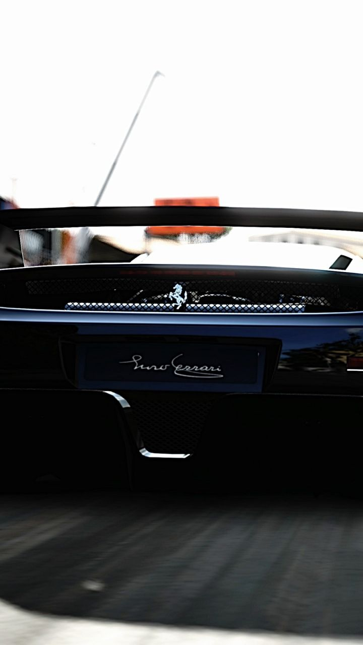 Wallpaper Ferrari Supercar Bumper Black