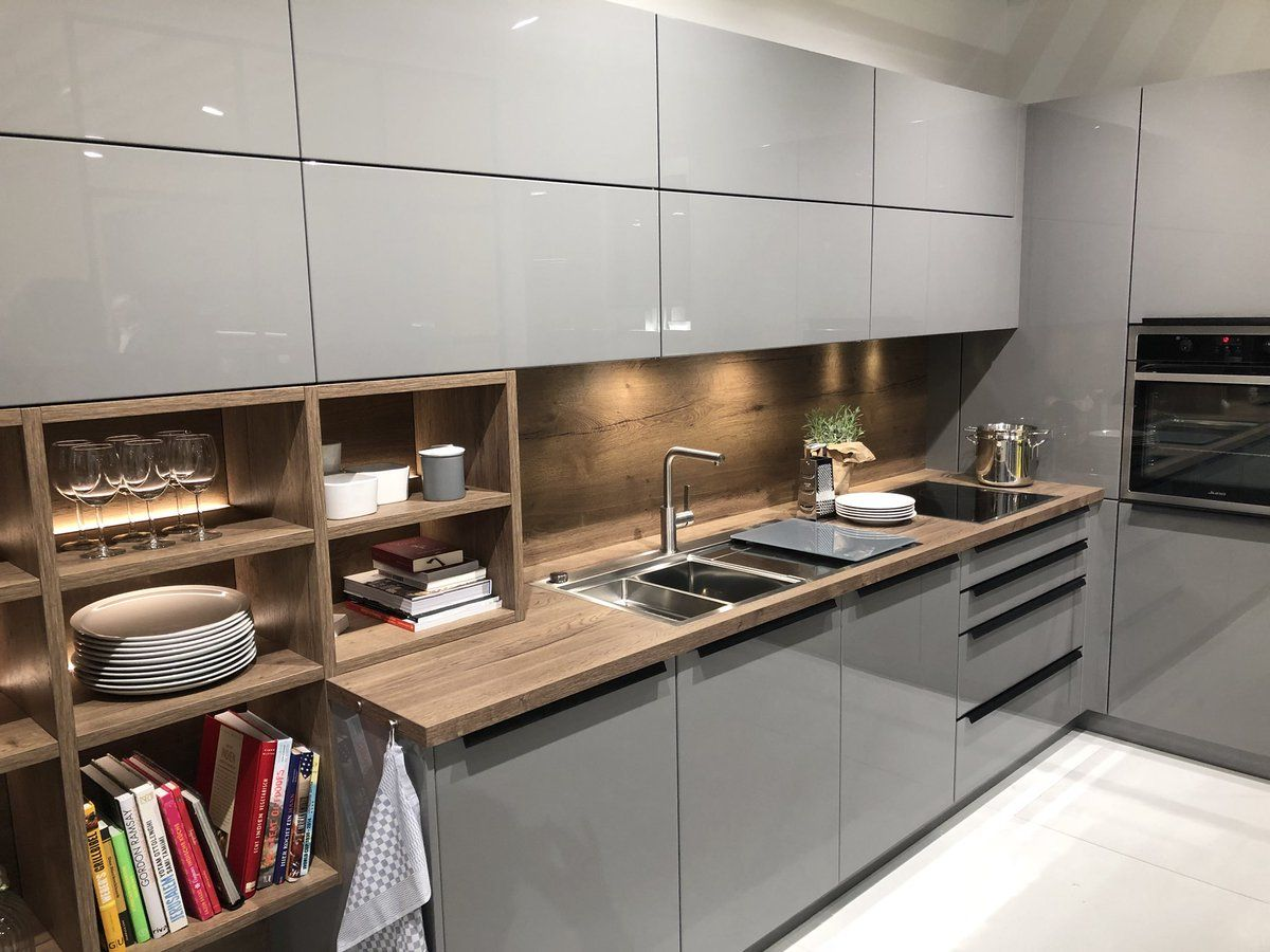 Some Really Nice Designs Here At Isaloniofficial Eurocucina Milano This Year Including Egger Uk H118 Kitchen Design Grey Kitchen Designs Modern Kitchen Design