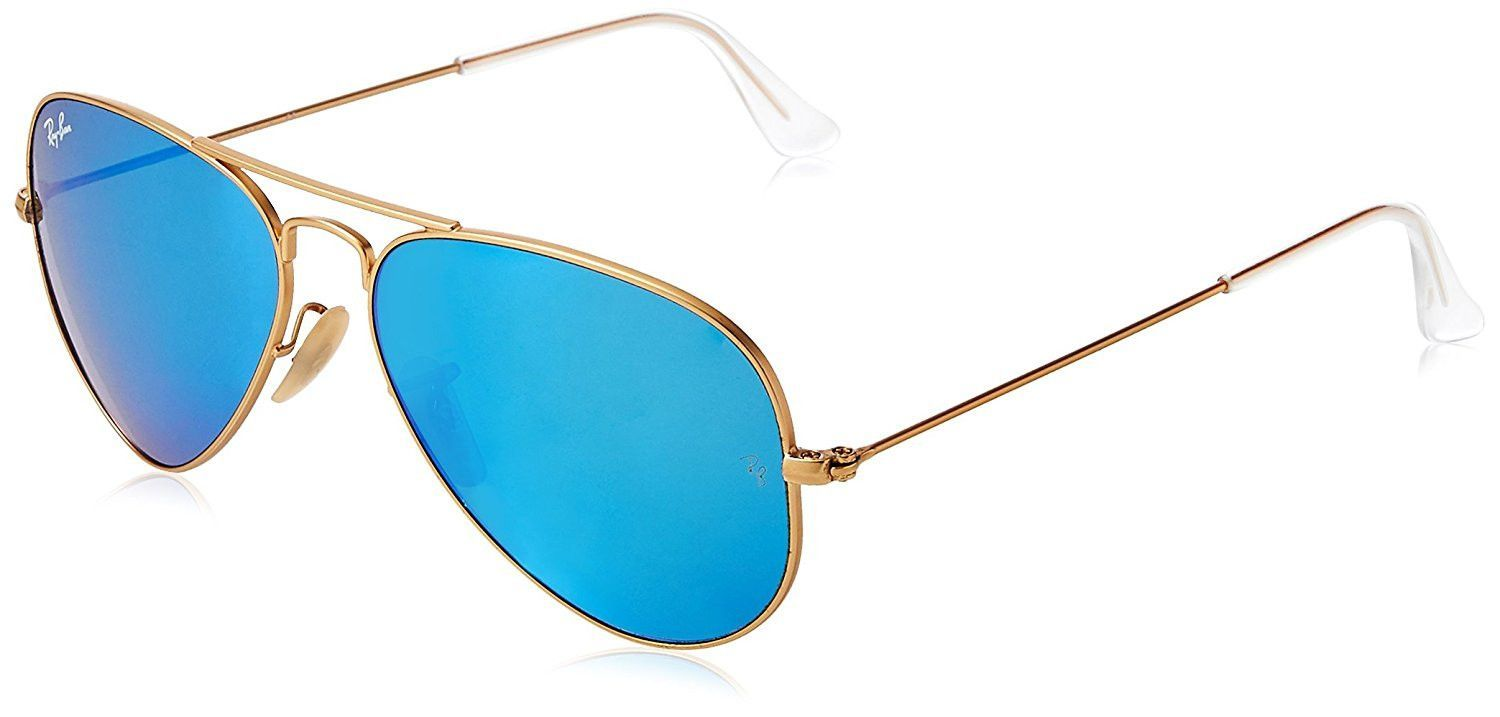 Ray Ban 3025 Aviator Large Metal Mirrored Non Polarized Sunglasses ... 14912dce18be