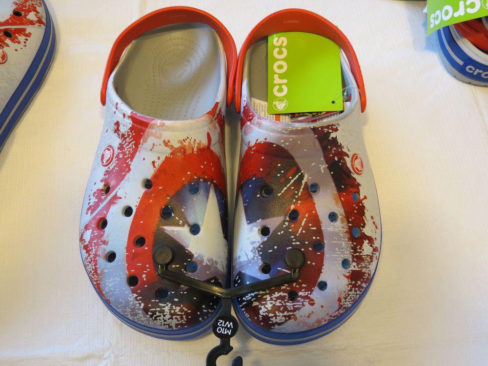 e8c2e7f23a9cc Crocs Mens Womens Crocband Avengers clog light grey M10 W12 shoe relaxed fit …